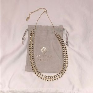 Kendra Scott Oscar Necklace Gold Smoky Crystal
